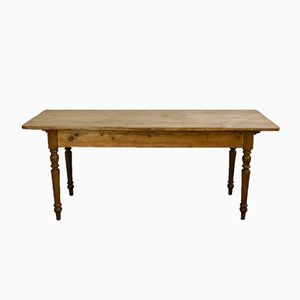 Antique Rustic Oak Tavern Table, 1900s