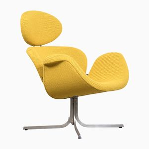 Large Mid-Century Dutch F551 Tulip Lounge Chair by Pierre Paulin for Artifort
