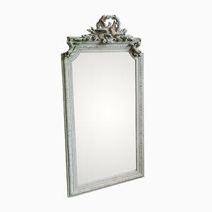 Large Antique French Stucco Mirror