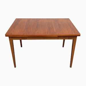 Walnut Veneer Dining Table with Extending Plates, 1960s