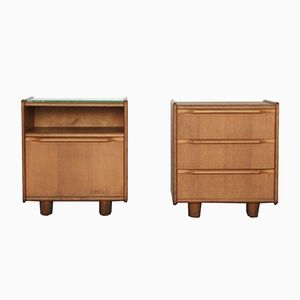 Mid-Century Oak Series Night Stands by Cees Braakman for Pastoe