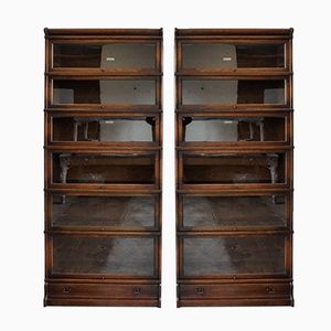 Glass Bookcases from Globe Wernicke, 1900s, Set of 2