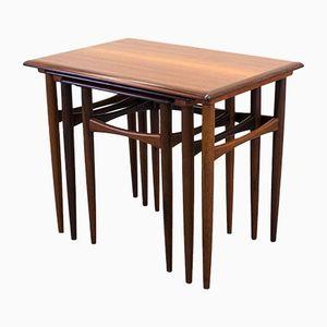 Rosewood Veneered Nesting Tables by Arne Hovmand Olsen