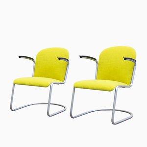 Mid-Century Modell 413 RL Sessel von W.H. Gispen für Gispen, 2er Set