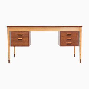 Vintage Freestanding Writing Desk by Børge Mogensen for Søborg Møbelfabrik