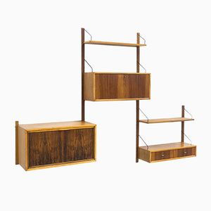 Vintage Bonkonko and Walnut Wall Unit by Poul Cadovius for Royal System