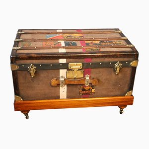 Brown Steamer Trunk from Moynat, 1920s