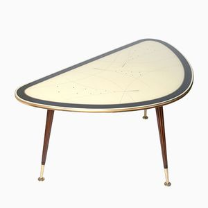 Mid-Century Brass Cocktail Table from IIse Möbel, 1950s