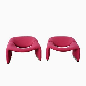 Groovy M-Chairs by Pierre Paulin for Artifort, 1970s, Set of 2