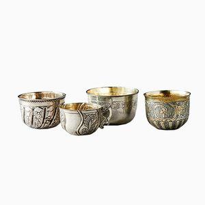 Antike Russische Tafelsilber Tassen, 4er Set