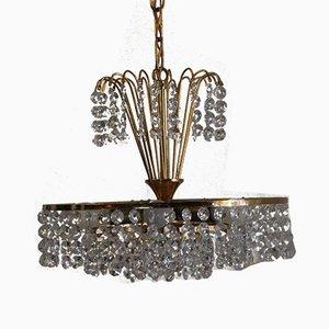 Kristallglas Kronleuchter, 1960er