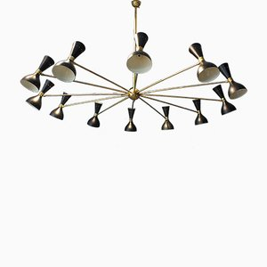 Large Vintage Italian 24-Light Chandelier