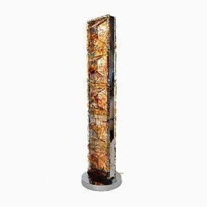 Stehlampe aus Murano Glas & Chrom von Mazzega, 1970er