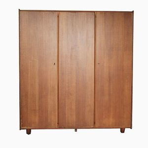 Mid-Century Oak Wardrobe by Cees Braakman for Pastoe