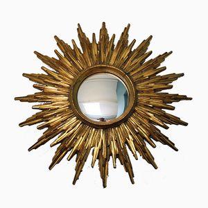 Vintage Golden Sunburst Mirror from Deknudt, 1960s