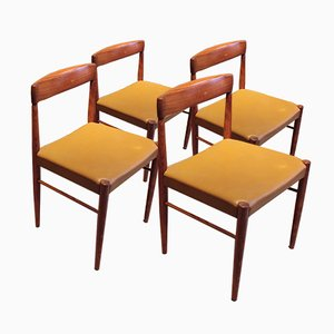 Mid-Century Danish Rosewood Dining Chairs by H.W. Klein for Bramin, Set of 4