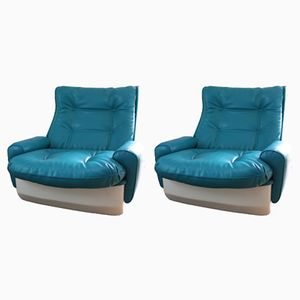 Vintage Orchidée Lounge Chairs from Airborne, 1970s, Set of 2