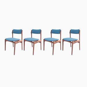 Dänische Mid-Century Esszimmerstühle aus Palisander & Wolle, 4er Set
