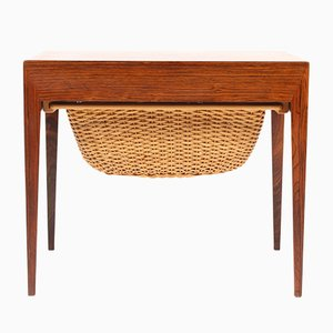 Vintage Rosewood Sewing Table by Severin Hansen for Haslev