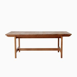 Low Danish Oak Table by Aksel Dahl for KP Møbler, 1960s