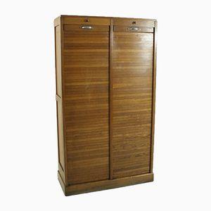 Tambour Door Cabinet, 1920s