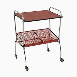 Serving Cart with Record Rack, 1950s