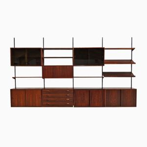 Rosewood Wall Unit by Kai Kristiansen for Felballes Møbelfabrik, 1960s