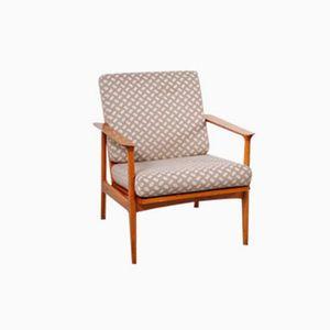Vintage German Cherrywood Easy Chair