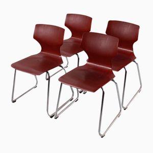 Stahlrohr Stühle von Flötotto, 1960er, 4er Set