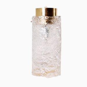 Mid-Century Ice Glass Lamp