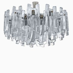 Frosted Glass Chandelier by J.T. Kalmar for Kalmar, 1970s
