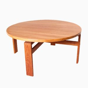 Mid-Century Round Danish Coffee Table