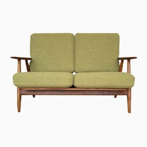 Mid-Century Danish Oak and Teak GE240/2 Cigar Sofa by Hans J. Wegner for Getama