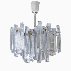 Mid-Century Frosted Glass Chandelier by J.T. Kalmar for Kalmar, 1970s