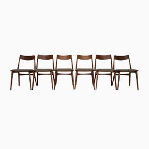 Chaises de Salon Boomerang Vintage en Teck par Erik Christensen pour Slagelse Møbelværk, Set de 6