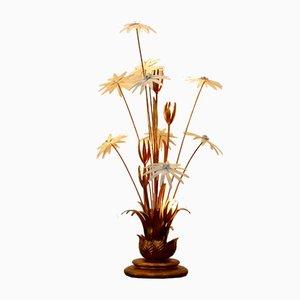Gilt Floral Floor Lamp by Hans Kögl, 1970s