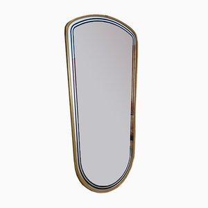 Mid-Century French Brass Framed Mirror