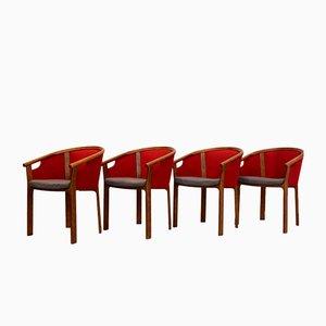 Teak Dining Chairs by Rud Thygesen & Johnny Sørensen for Magnus Olesen, 1980s, Set of 4