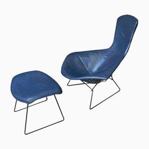 Mid-Century Bird Chair & Ottoman by Harry Bertoia for Knoll
