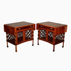 Mid-Century Mahogany Coffee Tables, Set of 2