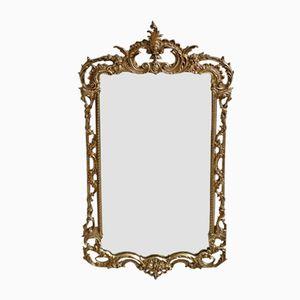Small Louis Philippe Brass Hallway Mirror, 1860s