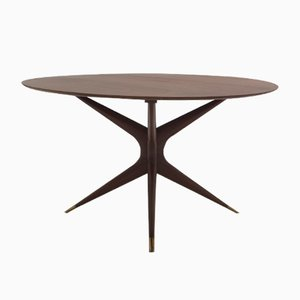 Vintage Walnut Table by Ico Parisi for Ariberto Colombo