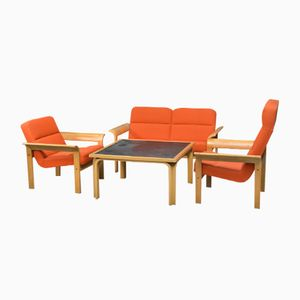 Danish Living Room Set by Rud Thygesen & Johnny Sørensen for Magnus Olesen, 1970s