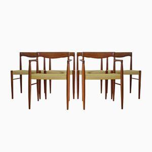 Dänische Esszimmerstühle von H.W. Klein für Bramin, 1960er, 6er Set