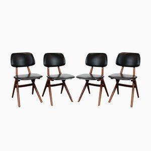 Pelican Stühle von Louis van Teeffelen für Webe, 1960er, 4er Set