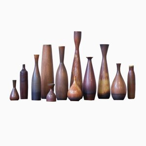 Vintage Vases by Carl Harry Stålhane for Rörstrand, Set of 12