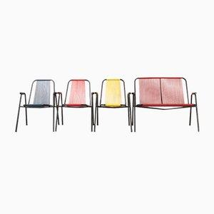 Garten Sitzmöbel von Spimeta Harkema, 1950er, 4er Set