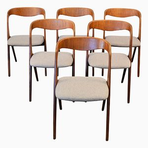 Danish Teak Dining Chairs by Erik Wørts for Vamo Sonderborg, Set of 6
