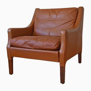 Danish Leather Lounge Chair by Rud Thygesen for Vejen Møbelfabrik, 1960s