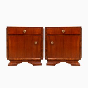French Art Deco Bedside Cupboards, Set of 2